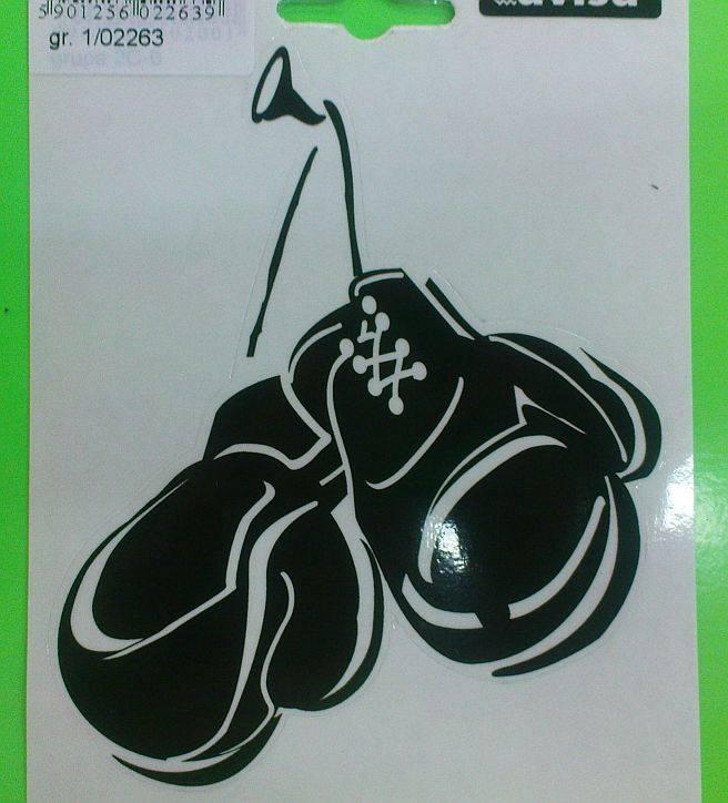Smolepka na auto boxerské rukavice černá 13x11cm, 1ks AVISA