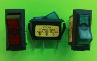Kolébkový vypínač obdelník, 12V, 1,3 x 3 cm
