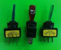 Páčkový vypínač červený, modrý, zelený, oranžový