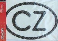 Samolepka CZ 3D carbon velká 13,5 x 9 cm