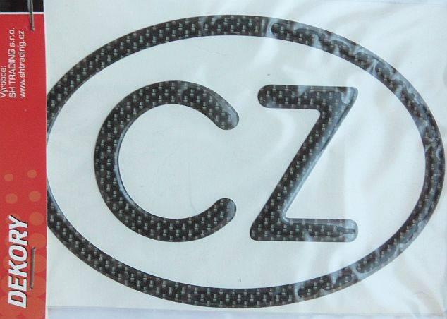 samolepka CZ 3D