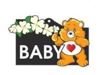Samolepící dekor výstražní Dítě v autě (baby on board) venkovní 11 x 8 cm