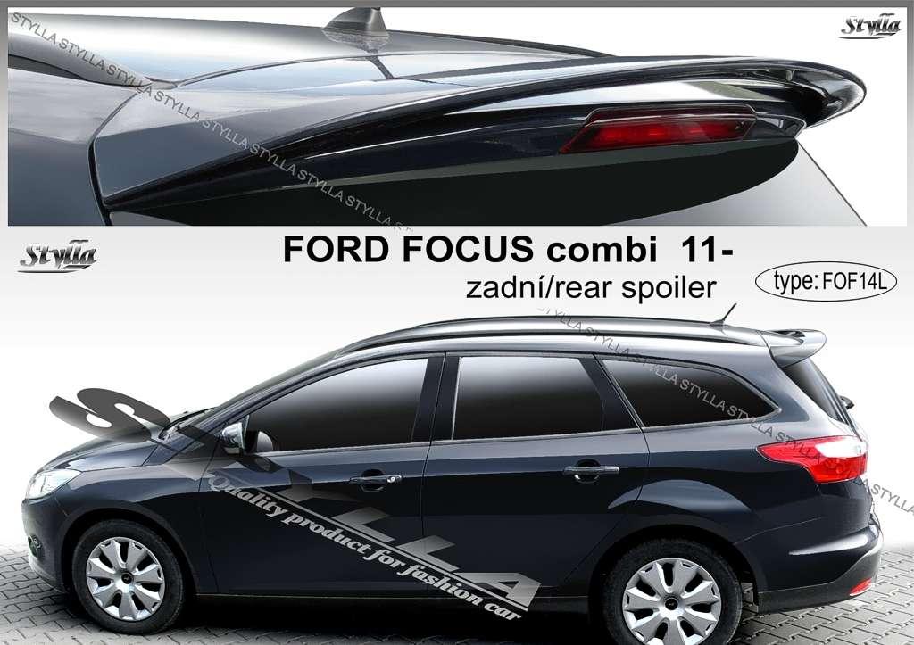 Spoiler zadní katopy střešní na míru pro FORD Focus III combi 2011r =>