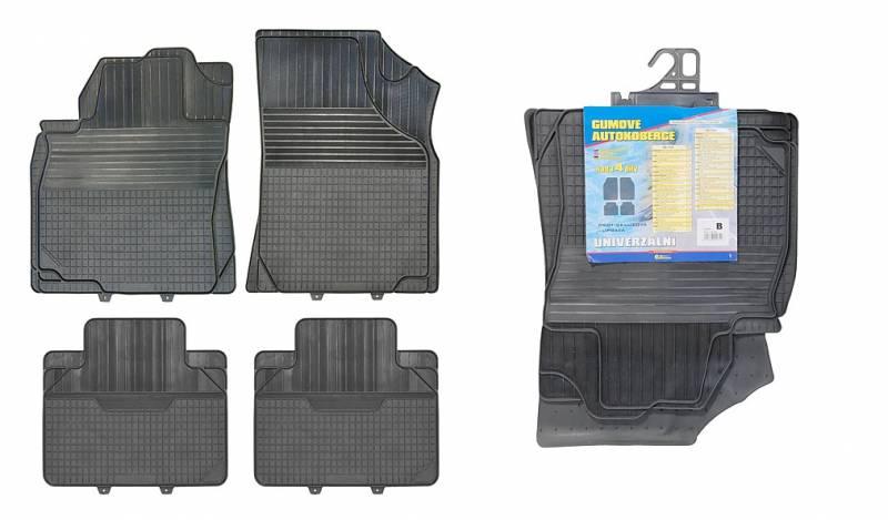 Univerzální gumové koberečky (rohožka) autokoberce 4ks typ B Vyrobeno v EU