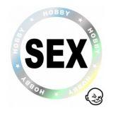 Samolepka na auto Sex, prům 9cm